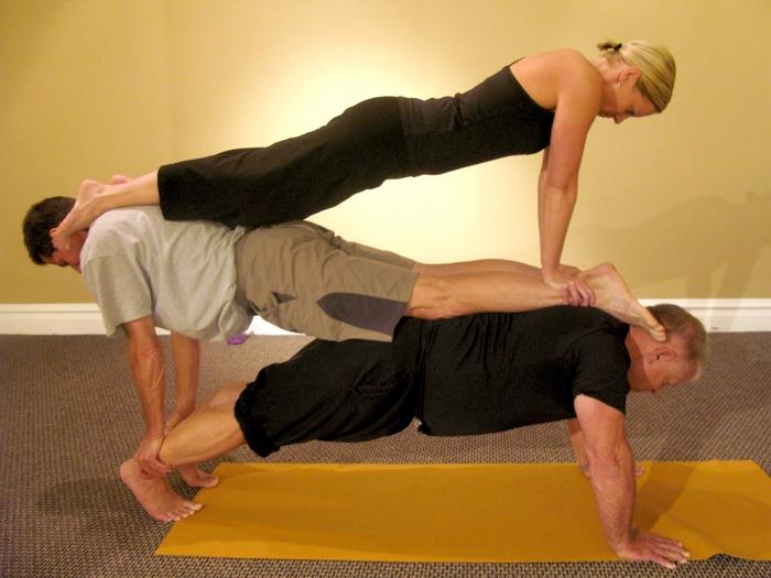 Stacked Plank Partner Yoga