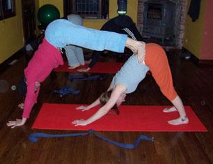 Stacked Dog Partner Yoga
